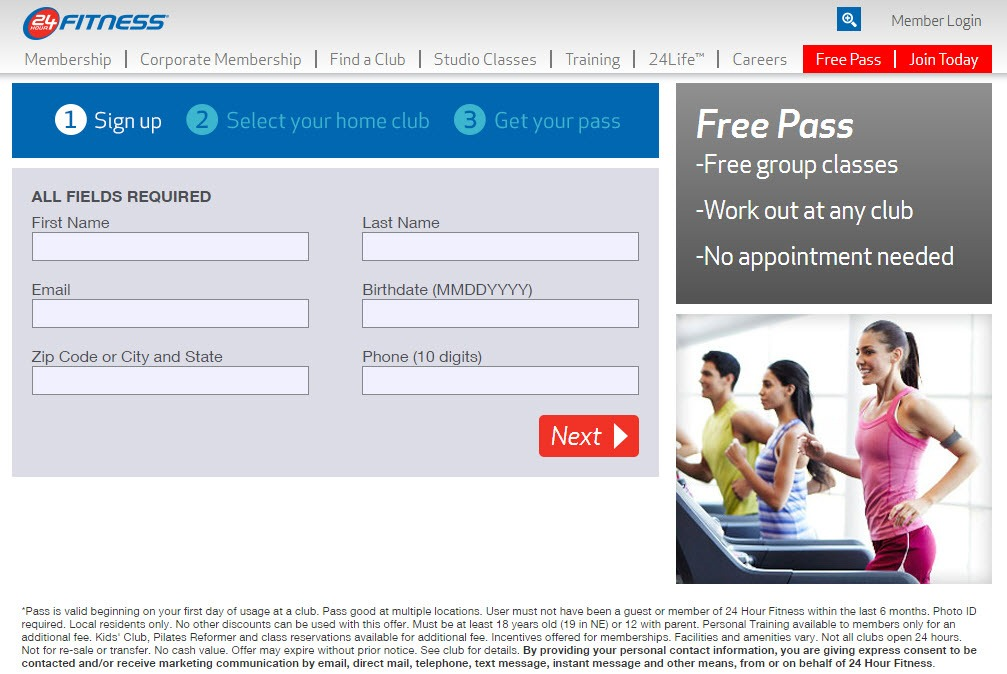 FREE Pass to 24 Hour Fitness – 50% Off Initiation Fee