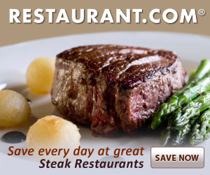 Dining For Less – Restaurant Certificates as low as $6 for $25 in Food