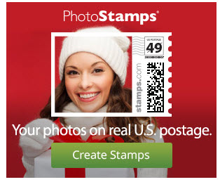 Your Photos on Real US Postage STAMPS
