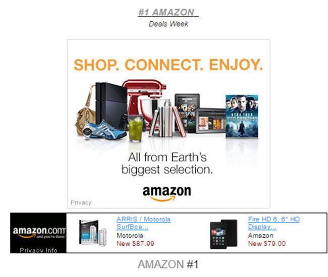 AMAZON SHOP CONNECT SAVE STORES BLOCK #1