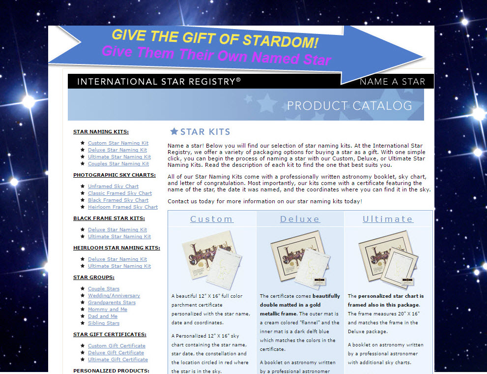 Give Her or Him the Gift of Star Power with their Very Own Named Star- Star Registry- From only $54